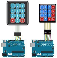 Arduino Keypad Tutorial - 4X4 and 3X4 Keypad Connection Diagram