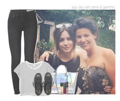 """lazy day with anne & gemma"" by rosa-brooks ❤ liked on Polyvore featuring rag & bone, GUESS, Monki, Converse, OPI, Marc Jacobs, NARS Cosmetics and MAC Cosmetics"