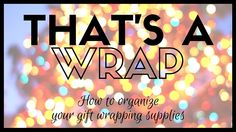 This holiday season, we want to help you get organized so you can enjoy the holidays more! Here are some of our favorite gift wrapping stations, products to try in your home and some wonderful ways to keep track of your family and friends' wish lists and gifts.