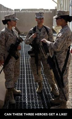 "Military Women ""The Band of Sisters"".This is not me in the picture but reminds me of all my ""military sisters"" Love and miss you girls Female Marines, Female Soldier, Women Marines, My Marine, Marine Corps, Gi Joe, Military Women, Thing 1, Us Army"