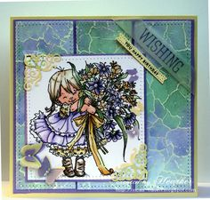 Created by Heather for the Simon Says Stamp Wednesday challenge (Make your Own Background)