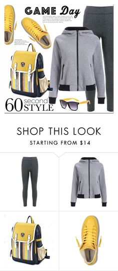 """""""60 second style"""" by jecakns ❤ liked on Polyvore featuring outfit, sport, sneakers, Hoodies and falltrend"""