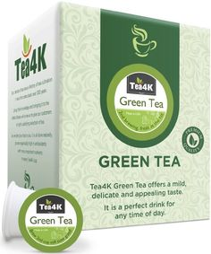 36 Count Tea4k Green Tea Single Serve Cups for Keurig K-Cup Brewer, Organic, Non-GMO Verified, Made in USA