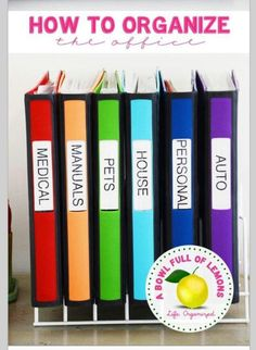 Filing with binders! It never occurred to me to not use a filing cabinet or tote. I love this idea!                                                                                                                                                      More