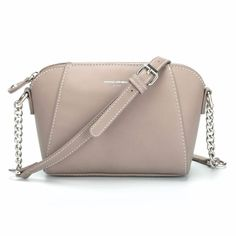 7d24d848b81c Messenger Handbag with Chain in Soft Earth Colors. Buy DAVIDJONES Women s  Faux Leather Small ...