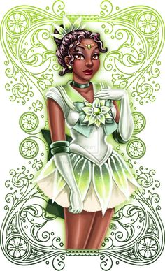 Disney Character Cosplay Sailor Tiana is listed (or ranked) 11 on the list 22 Disney Princesses As Sailor Moon Characters Sailor Princess, Disney Princess Art, Princess Tiana, Disney Fan Art, Disney Love, Disney Pixar, Disney Characters, Disney Artwork, Disney Style