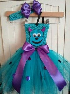 Sulley tutu dress Haley wants to be him for Halloween lol Hope Lacey Bell can make this one