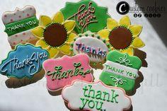 Thank you cookies by Custom Cookies by Jill, via Flickr