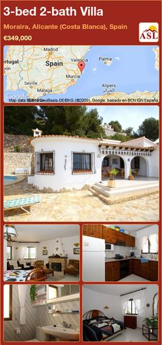 3-bed 2-bath Villa in Moraira, Alicante (Costa Blanca), Spain ►€349,000 #PropertyForSaleInSpain