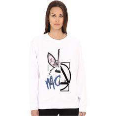 McQ Classic Sweatshirt Women's Sweatshirt, White ($150) ❤ liked on Polyvore featuring tops, hoodies, sweatshirts, white, white long sleeve top, crew neck sweat shirt, crew-neck sweatshirts, long sleeve sweatshirt and graphic sweatshirts