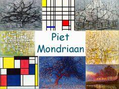 Leuke en informatieve powerpoint over Piet Mondriaan.