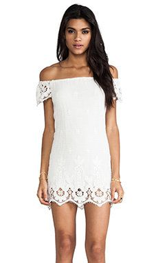 Shop for Jen's Pirate Booty Ethereal Bardot Mini Dress in White Sand at REVOLVE. Free day shipping and returns, 30 day price match guarantee. White Sundress, White Dress Summer, Summer Outfits, Summer Dresses, Revolve Clothing, Free People Dress, Dress Me Up, Lace Skirt, Tunic