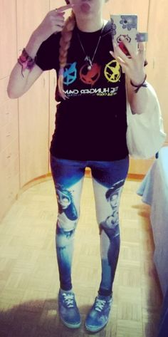 Hunger games shirt and corpse bride leggings