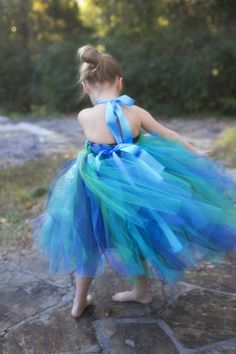 Pixie flower girl...in blue.