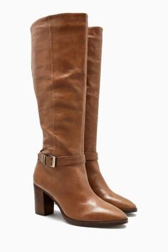 Buy Signature Leather Long Boots online today at Next: Israel
