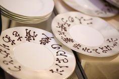 「デザート」の時間を使ってやりたい*ゲストへのおもてなしと可愛いサプライズまとめ♡にて紹介している画像 Decorative Plates, Tableware, Wedding, Ideas, Valentines Day Weddings, Dinnerware, Tablewares, Weddings, Dishes