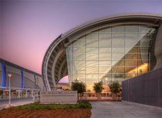 Mineta San Jose International Airport, San Jose, CA. San Jose International Airport, San Jose Airport, Light Architecture, Airports, Design Firms, Lighting Design, Interior And Exterior, Transportation, Innovation