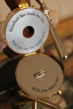 Take notes gentlemen, creative proposals are always appreciated.  #SPARKLEbridalcouture #Proposals #Baseballweddings