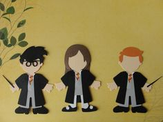Items similar to Harry Potter and Pals Handmade Wizarding World of Harry Potter Paper Doll Embellishments for Scrapbooking, Invitations or Party Decor on Etsy Harry Potter Classroom, Homemade Birthday Cards, Paper Dolls, Wands, Embellishments, Invitations, Templates, Disney Stuff, Scrapbook Layouts