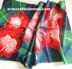 #Pure Silk Scarf - Design 013