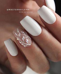 Bling Wedding Nails, Vintage Wedding Nails, Natural Wedding Nails, Simple Wedding Nails, Bride Nails, Wedding Nails Design, Prom Nails, My Nails, Elegant Bridal Nails