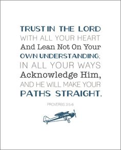 Scripture Art Print for boys room ... airplane