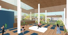 Coliving: Arca de NOE - Nuevas maneras de habitar. on Behance My Works, Behance, Architecture, Illustration, Decks, Buildings, Courtyards, Arquitetura, Illustrations