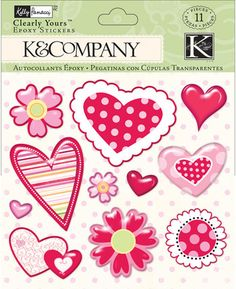 Kelly Panacci Valentine Heart Clearly Yours Stickers Valentine Heart, Paper Design, Embellishments, How To Find Out, Stickers, Pattern, Scrapbooking, Collections, Sticker