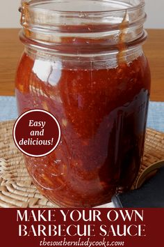 Easy, delicious barbecue sauce that is great on any meat. Vegetarian Grilling, Healthy Grilling Recipes, Cooking Recipes, Meat Recipes, Smoker Recipes, Vegetarian Food, Homemade Bbq Sauce Recipe, Barbecue Sauce Recipes, Grill Barbecue