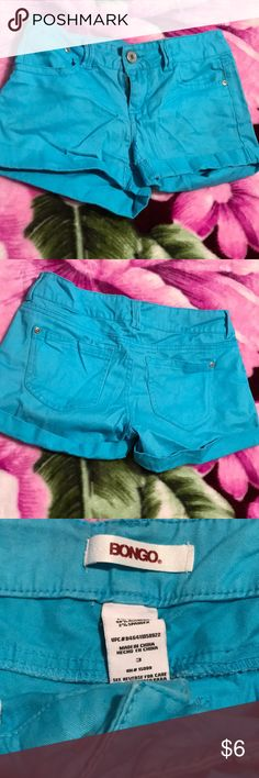 Bongo shorts Blue shorts  Size 3 in juniors Never worn but did take off the tags  Good condition BONGO Shorts