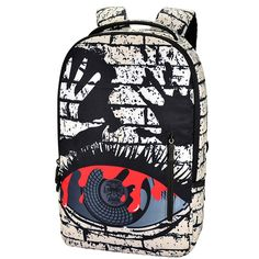 7c80c60fd14b Black Red and Ivory White Durable Canvas Travel Backpack Vogue Water-proof  Cool Hip-