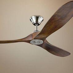 """60"""" Monte Carlo Maverick Brushed Steel Ceiling Fan"""