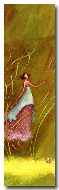 BOISSONNARD  La fille et l'oiseau rose