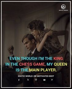 Tag your King or Queen  -- Queen is Important in Chess and Real Life also  -- For More Quotes Follow @idiotic.world  -- #money #motivation #success #cash #wealth #grind #lifestyle #business #entrepreneur #luxury #moneymaker #work #successful #hardwork #life #hardworkpaysoff #businessman #passion #millionaire #love #networkmarketing #businessowner #motivational #desire #entrepreneurship #stacks #entrepreneurs #smile #idiotic_world #instagood
