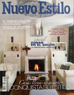 yippy! our capricho real design project made the NUEVO ESTILO cover story! designed by us @ nikohl cadeau interiors