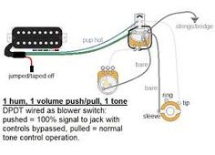 Direct out wiring single humbucker - Google Search