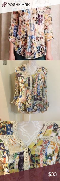 Maeve Arabella Tunic! Size 4 Beautiful tunic top from anthroplogie. Size 4. Anthropologie Tops