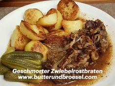 Das Rezept für diesen österreichischen Küchenklassiker findet ihr ab sofort am Blog. #butterundbroesel Butter, Pot Roast, Ab Sofort, Beef, Ethnic Recipes, Food, German, Potato Fry, Lenses