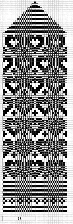 Sydänlapaset / Mittens fair isle knit chart