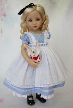 Details about Outfit for Dianna Effner Little Darling Doll Dianna Effner 13 Little Darling, Alice in Wonderland Sewing Doll Clothes, American Doll Clothes, Sewing Dolls, Girl Doll Clothes, Doll Clothes Patterns, Girl Dolls, Pretty Dolls, Beautiful Dolls, Cute Dolls