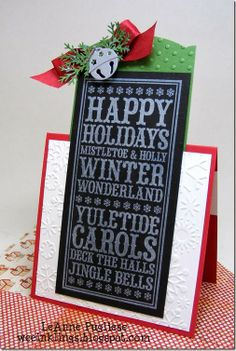 LeAnne Pugliese WeeInklings Merry Monday 86 Chalkboard Christmas