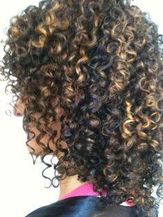 Curls w highlights