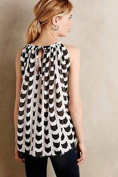 Cat silhouette blouse #anthrofave