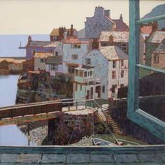Mike Hall original 'View of Seaside Town II'