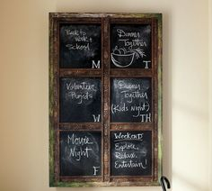 We can make this with blackboard paint and trim from Home Depot...and in any color decor too!