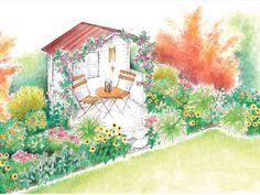 Eine Ungenutzte Nische Im Garten Soll Optisch Aufgemöbelt Werden. Wir  Präsentieren Ihnen Hier Zwei Sitzplatz Ideen Mit Ganz Unterschiedlicher  Wirkung.