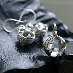 Set of earrings and pendant Gotland Ball with rhinestone Gotland 10-12 century Sterling silver 925 Norway Iseland Viking jewelry by LegendsGardarike on Etsy https://www.etsy.com/listing/484985428/set-of-earrings-and-pendant-gotland-ball