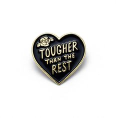 Tough Heart Enamel Pin by luckyhorsepress on Etsy https://www.etsy.com/listing/449406100/tough-heart-enamel-pin