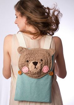 Bear crochet bag