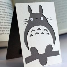 Layered Magnetic Totoro Bookmark by BottlejackStudios on Etsy,.00